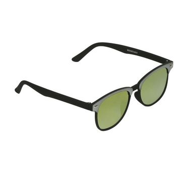 Swiss Design Wayfarer Plastic Sunglass For Unisex_S18276grybk - Golden