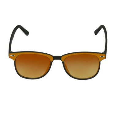 Swiss Design Wayfarer Plastic Sunglass For Unisex_S18276ylbk - Yellow
