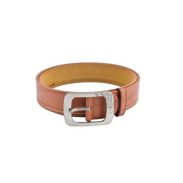 Mango People Leatherite Casual Belt For Men_Mp102tn - Tan