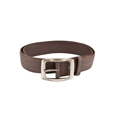 Mango People Leatherite Casual Belt For Men_Mp104br - Brown