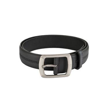 Mango People Leatherite Casual Belt For Men_Mp106bk - Black