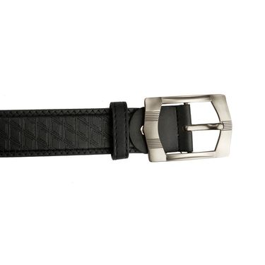 Mango People Leatherite Casual Belt For Men_Mp111bk - Black