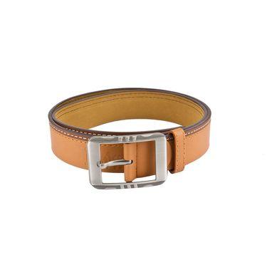 Mango People Leatherite Casual Belt For Men_Mp112tn - Tan