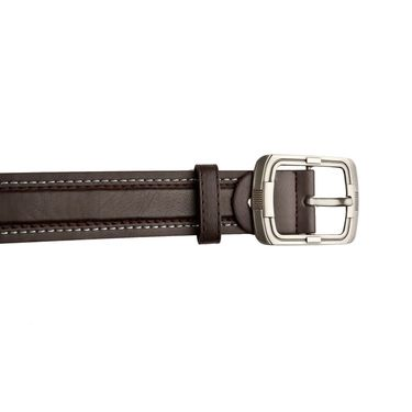 Mango People Leatherite Casual Belt For Men_Mp113br - Brown