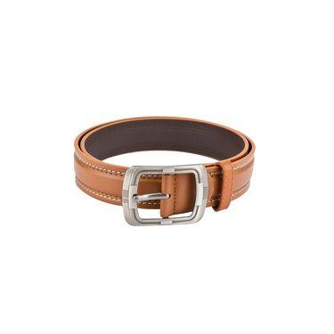 Mango People Leatherite Casual Belt For Men_Mp113tn - Tan