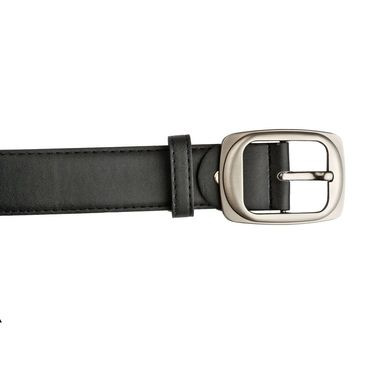 Mango People Leatherite Casual Belt For Men_Mp114bk - Black