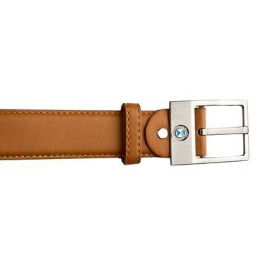 Mango People Leatherite Casual Belt For Men_Mp116tn - Tan