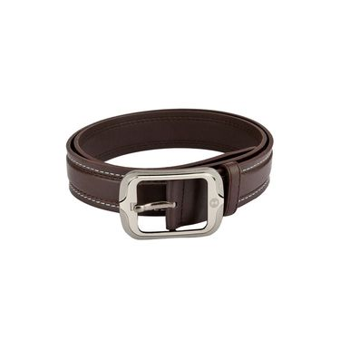 Mango People Leatherite Casual Belt For Men_Mp117br - Brown