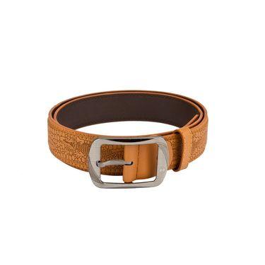 Mango People Leatherite Casual Belt For Men_Mp118tn - Tan