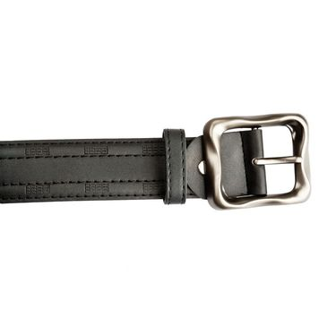 Mango People Leatherite Casual Belt For Men_Mp120bk - Black