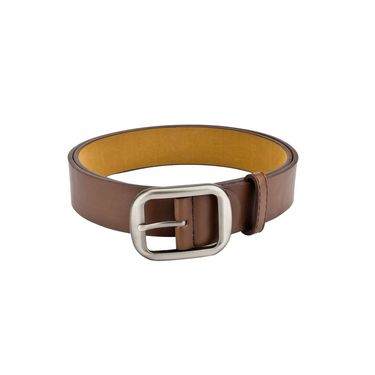 Mango People Leatherite Casual Belt For Men_Mp125br - Brown