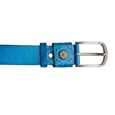 Swiss Design Leatherite Casual Belt For Men_Sd01bl - Blue