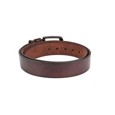 Swiss Design Leatherite Casual Belt For Men_Sd07br - Brown