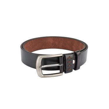 Swiss Design Leatherite Casual Belt For Men_Sd07blk - Black