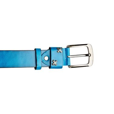 Swiss Design Leatherite Casual Belt For Men_Sd09bl - Blue
