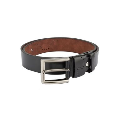 Swiss Design Leatherite Casual Belt For Men_Sd10blk - Black