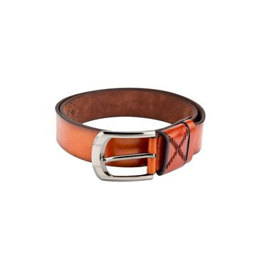 Swiss Design Leatherite Casual Belt For Men_Sd102tn - Tan