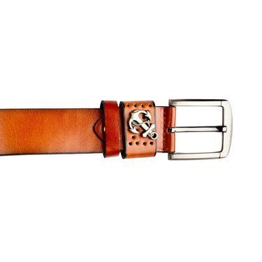 Swiss Design Leatherite Casual Belt For Men_Sd103tn - Tan