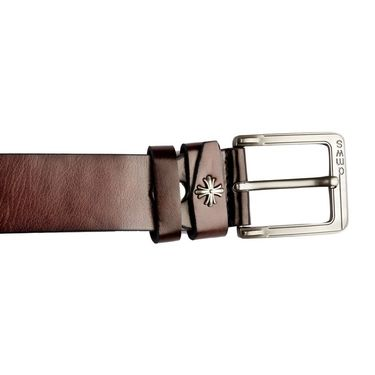 Swiss Design Leatherite Casual Belt For Men_Sd105br - Brown