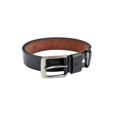 Swiss Design Leatherite Casual Belt For Men_Sd107blk - Black