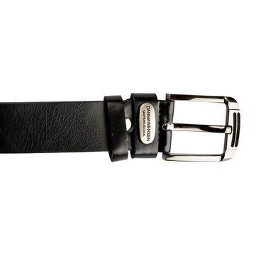 Swiss Design Leatherite Casual Belt For Men_Sd108blk - Black