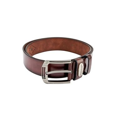 Swiss Design Leatherite Casual Belt For Men_Sd108br - Brown
