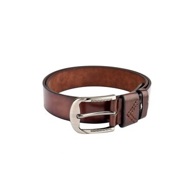 Swiss Design Leatherite Casual Belt For Men_Sd109br - Brown