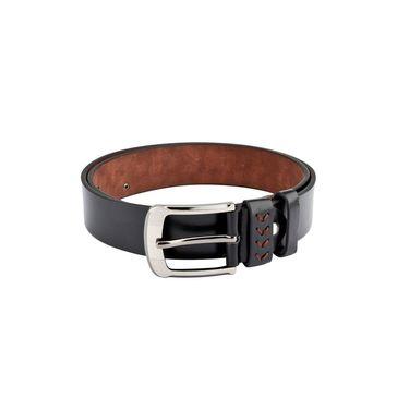 Swiss Design Leatherite Casual Belt For Men_Sd111blk - Black