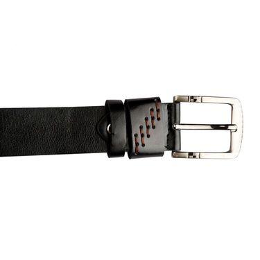 Swiss Design Leatherite Casual Belt For Men_Sd119blk - Black