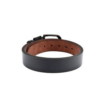 Swiss Design Leatherite Casual Belt For Men_Sd120blk - Black
