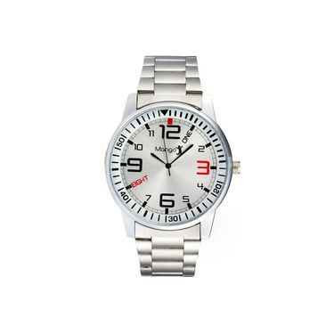 Mango People Round Dial Watch For Men_MP017 - Silver