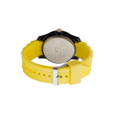 Mango People Round Dial Watch For Men_MP021 - Yellow & Black