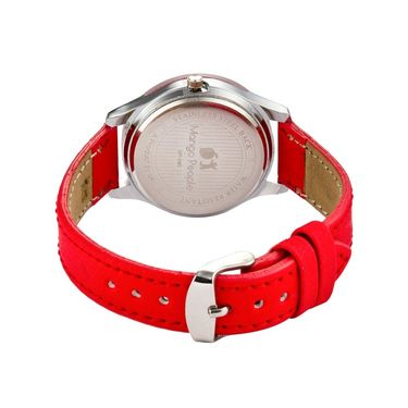 Mango People Round Dial Watch For Women_MP045RD01 - Red
