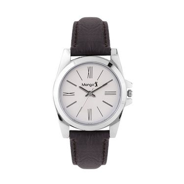 Pack of 2 Mango People Round Dial Watches_MP10062WH - White