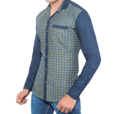 Brohood Slim Fit Full Sleeve Shirt For Men_A5060 - Blue