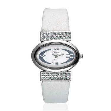 Oleva Analog Wrist Watch For Women_Olw19w - White