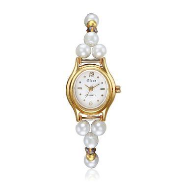 Oleva Analog Wrist Watch For Women_Opw11wo - White