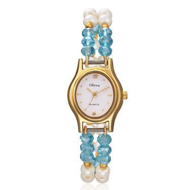 Oleva Analog Wrist Watch For Women_Opw61 - White