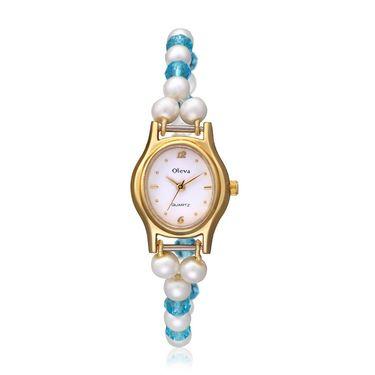 Oleva Analog Wrist Watch For Women_Opw70 - White