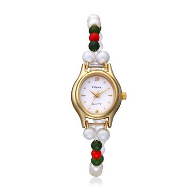 Oleva Analog Wrist Watch For Women_Opw77 - White