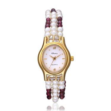 Oleva Analog Wrist Watch For Women_Opw105 - White