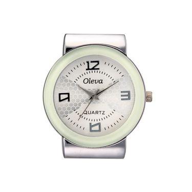 Oleva Analog Wrist Watch For Women_Osw14w - White