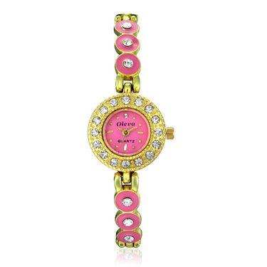 Oleva Analog Wrist Watch For Women_Osw22gp - Pink