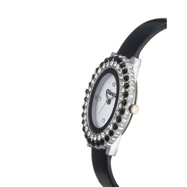 Oleva Analog Wrist Watch For Women_Opuw31b - Black