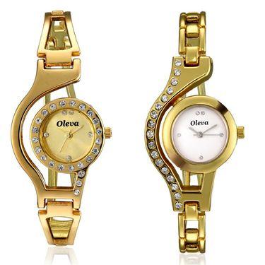 Combo of 2 Oleva Analog Wrist Watches For Women_Ovd1007