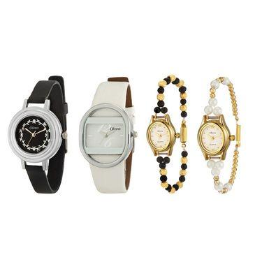 Combo of 4 Oleva Analog Wrist Watches For Women_Ovd167