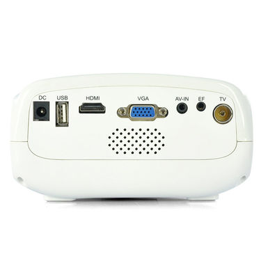 ZINGALALAA Budget Video Projector with 1.67 Million Colors, 200:1, Coaxial TV + HDMI Port