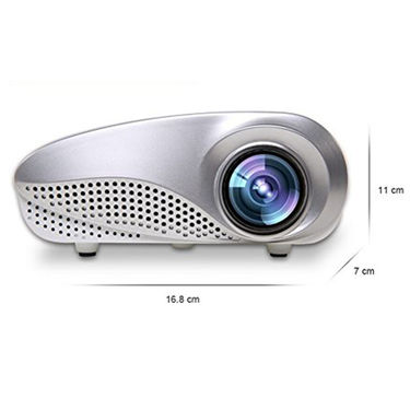 ZINGALALAA 3D Beamer LED Electric Zoom Portable Video Pico Micro Small Mini Projector