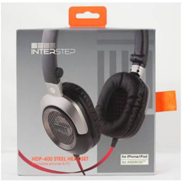 INTERSTEP HDP-400 STEEL HEADSET Stereo Wired Bluetooth Headphones - Metal