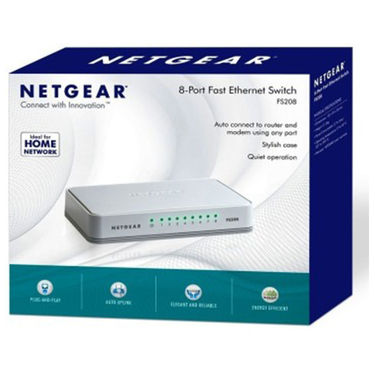 Netgear FS208 8 Port Ethernet Switch (White)